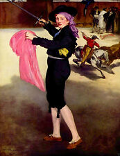 Oil painting Edouard Manet - Mlle. Victorine in the Costume of a Matador canvas