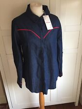 JJs Fairyland Blue Shirt Size 14.. Red Trim/ New With Tags