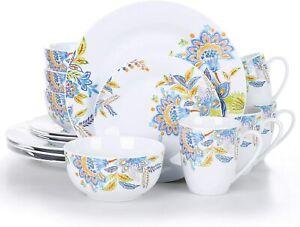 VEWEET Series Hallie 16-Piece of Porcelain Combination Set