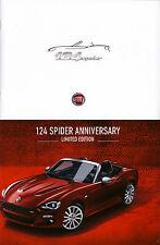 Fiat 124 Spider 50 th Anniversary 01 / 2016 catalogue brochure Austria Autriche