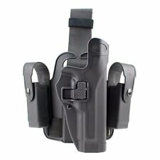 Tactical Drop Right-hand Leg Thigh Holster with 2 Pouch for Beretta M9 M92 Black