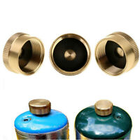 Solid Brass Refill 1LB Propane Gas Bottle Cylinder Coupler Protective Sealed Cap