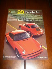 1984 PORSCHE 911 CARRERA ***ORIGINAL AD***