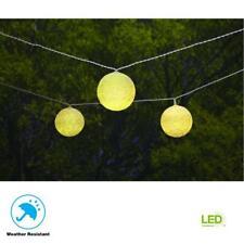 Hampton Bay 19.6 ft. Solar Integrated LED 10 Head String Light