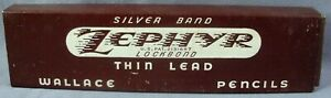 Vintage Pencils 311 Firm Silver Band Zephyr Wallace Lock Bond Thin Lead Box 12