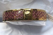 "NWT Coach Rose Pink/ Gold 1/2"" Bangle Bracelet Coach ""C"" Theme MSRP $78 F96855"