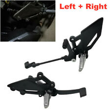 1Pair Universal Motorcycle Shift Lever Foot Peg Bracket Footrest Pedal Shifter