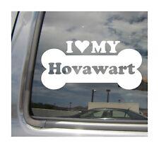 I Heart Love My Hovawart - Purebred Dog Bone Car Vinyl Decal Sticker 13491