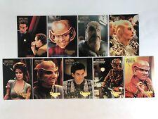 "STAR TREK DEEP SPACE NINE 1997 PROFILES Complete ""QUARK'S QUIPS"" Chase Card Set"