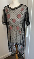 NEW LOOK DRESS SIZE 16 Lace See Through Floral Goth Wiccan Mini New With Tags
