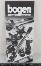 Vintage Bogen Manfrotto Camera Tripod Product Brochure g35