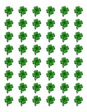 48 SHAMROCK CLOVER ST PATRICKS DAY ENVELOPE SEALS LABELS STICKERS 1.2