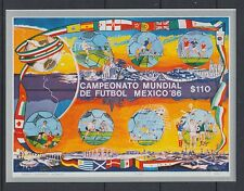 XG-T237 MEXICO - Football, 1986 World Cup '86, Flags, Imperf. MNH Sheet