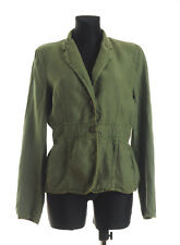 MARELLA SPORT Women's Green Linen Blazer Jacket Size 14 * Made in Italy