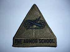 "US ARMY SUBDUED PATCH ""THE ARMOR SCHOOL"""