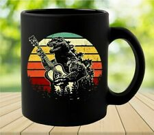 Godzilla Playing Guitar Vintage Coffee Mug Gift For Men Women Funny Ceramic Mug