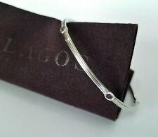 LAGOS - Purple Amethyst 5 Stone Sterling Silver Bangle Bracelet - Stunning!