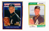 (2) Todd Van Poppel Odd-Ball Trading Card Lot