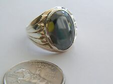 VNTG 8 3/4 STERLING SILVER/10K YELLOW GOLD MARCASITE RING