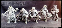 Alliance of Free Dwarves 5 Fantasy Toy Soldiers 54mm Limited Exclusive Set Rare