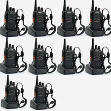 10 x BaoFeng BF-888S + Cable Earpiece Set UHF 400-470 5W Walkie Talkie Radio UK