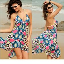 Beach Wear Cover- up  Halterneck  Holiday Summer Dress Multicolour One Size