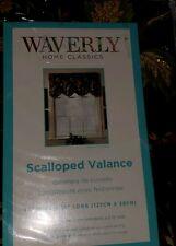 "1 Waverly Felicite Noir Scalloped  50"" x 15"" Window Valance"