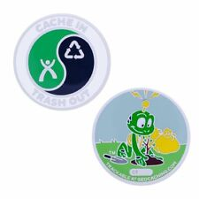 CITO Full Size Geocoin- Signal the Frog® Geocaching Official Trackable
