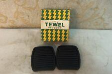 PAIR NOS RUBBER PEDAL PADS CLASSIC FORD CONSUL ZEPHYR ZODIAC # F32