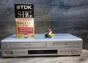 Daewoo DV-6T955B 6 Head DVD VCR Combo Player Hi-Fi VHS plus Blank Tape RCA Cable