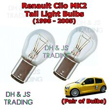 Renault Clio Tail Light Bulbs Pair of Rear Tail Light Bulb Lights MK2 (98-05)