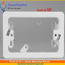 10 X 34 mm Mounting Block Power Points & Switches Sockets Switch