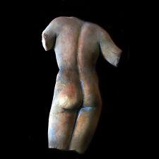Nude Male Torso Wall Sculpture Plaque