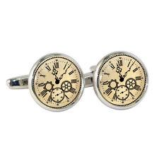 Estilo Vintage Esfera De Reloj Gemelos Victoriano Steampunk Engranajes Romanos