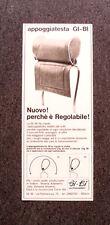 I916- Advertising Pubblicità -1965- APPOGGIATESTA GI-BI