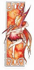 Autumn Fairy Art Nouveau Sticker Car Decal Selina Fenech fall faery faerie