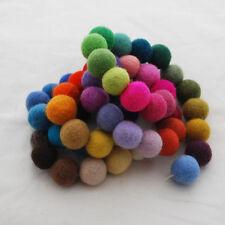 100% Wool Felt Balls - 2cm - 72 Count - 72 Colours