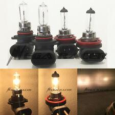Combo H11-55W 9005-HB3-65W DOT Stock Clear OEM Halogen Bulbs #Ga4 High/Low Beam