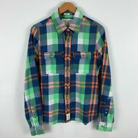 Abercrombie & Fitch Mens Button Up Shirt Medium Multicoloured Plaid Long Sleeve