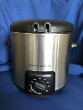 Cooks Essentials Deep Fryer 1 Quart #99340 Black Stainless Steel Small Appliance