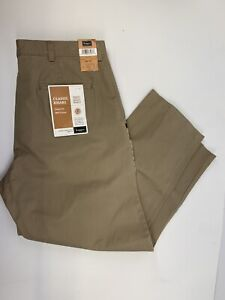 Hagger flat Front Straight Fit Mens 34x29  Beige Golf Pant NWT's (C43)