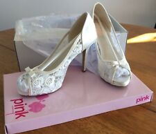 Beautiful ivory peep toe bridal shoes size 38 new in box by PINK