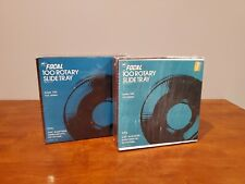 LOT OF 2 VINTAGE FOCAL 100 ROTARY SLIDE TRAYS FOR 2 X 2 SLIDES NEW IN SEALED BOX