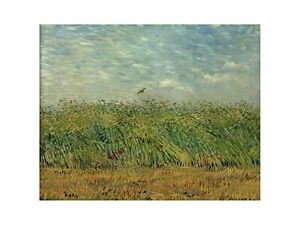 Vincent Van Gogh - Corn field with poppies and partridge 1887 Print 60x80cm