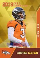 2019 DREW LOCK DRAFT 1ST EVER GOLD ROOKIE GEMS RC NFL Draft DENVER BRONCOS🔥HOT.
