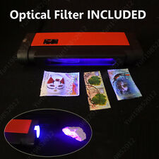 Handheld 2 in 1 Shortwave & Longwave Phosphor Detector UV Lamp w/ Optical Filter