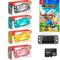 NEW Nintendo Switch Lite 🔥 Mario+Rabbids Bundle +Free Accessories PICK COLOR 🔥