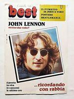 RARE MAGAZINE BEST N. 1-1981 MORTE DI JOHN LENNON BEATLES +FUMETTO WITH YOKO ONO