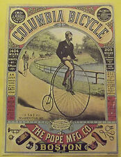 AFFICHE PUBLICITAIRE AMÉRICAINE COLUMBIA BICYCLE THE POPE MFG. BOSTON