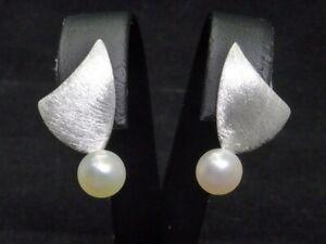 NEU Ohrringe 925 Sterling SILBER silver earrings Ohrstecker design argent Perle